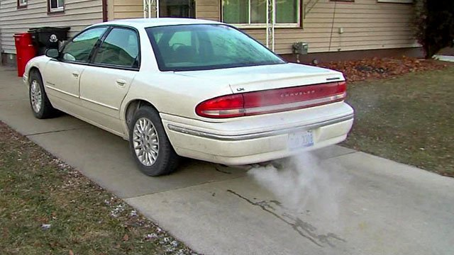 Don't leave an unoccupied car running; it's too tempting to criminals. (KTEN)