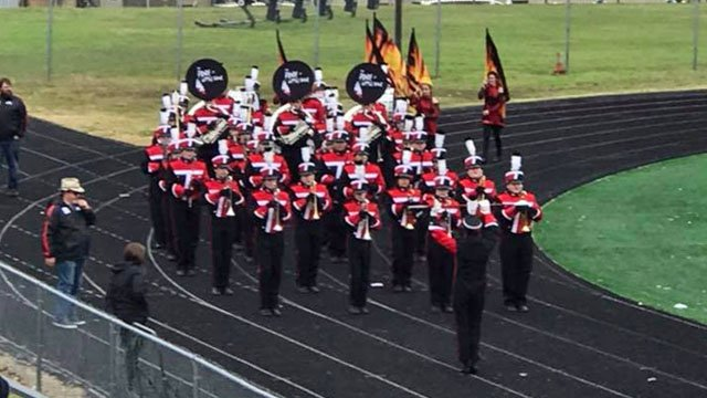 The Tishomingo High School Marching Band was set to perform at the Alamo Bowl in San Antonio. (Courtesy Dwight Campbell II)