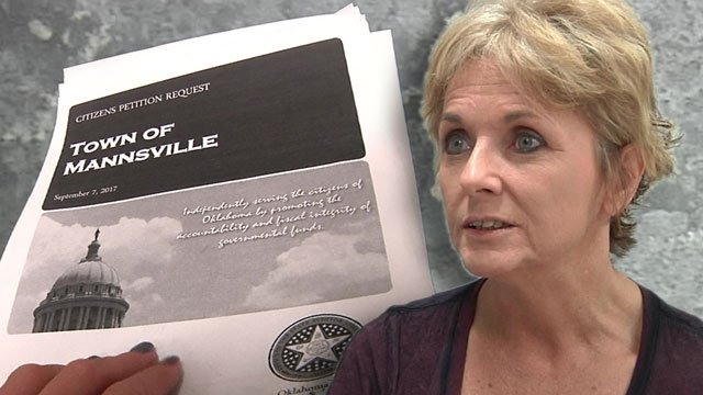 Mannsville treasurer Shonda Barnes was indicted after a state auditor reviewed the town's finances. (KTEN)