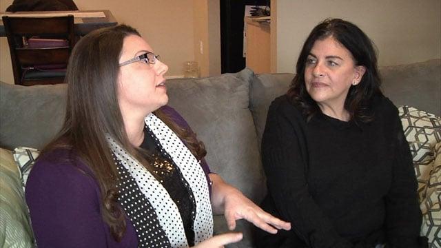 Tara Deobere, right, performed the Heimlich maneuver on neighbor Kirah Jean. (KTEN)