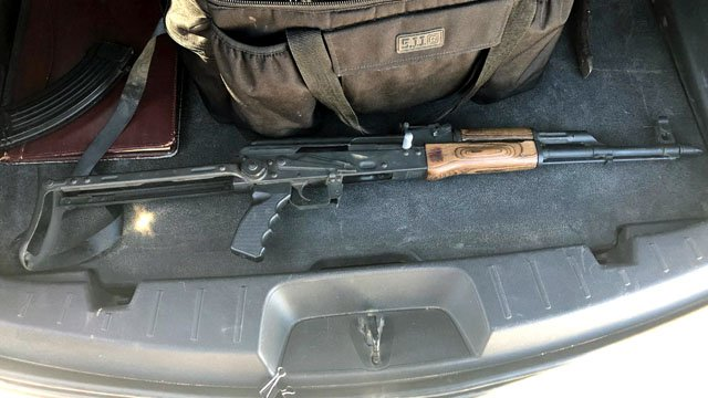Investigators believe this weapon was used by attempted murder suspect Scotty Russell. (Johnston County Sheriff photo)