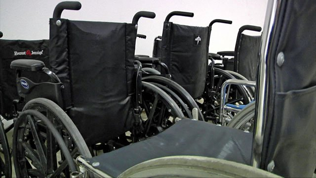 Wheelchairs are part of the Durable Medical Equipment Project loaner program. (KTEN)