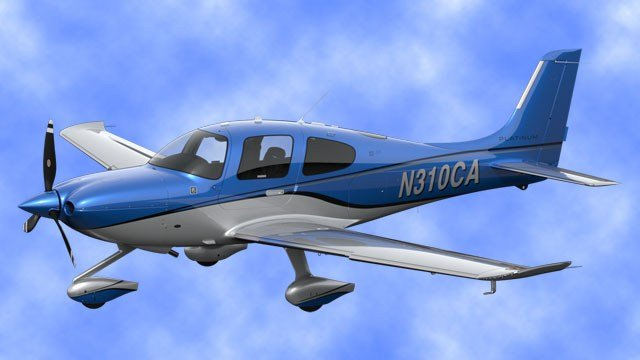 A Cirrus SR-22 similar to this failed to land at its scheduled destination after taking off from Oklahoma City. (Cirrus Aircraft photo)