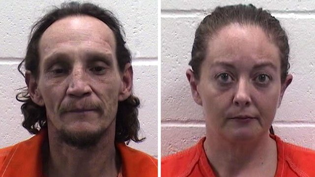 Claude Hill and Crystal Gant face drug charges after allegedly leading troopers on a high-speed chase through two Texoma counties. (Pontotoc County Jail)