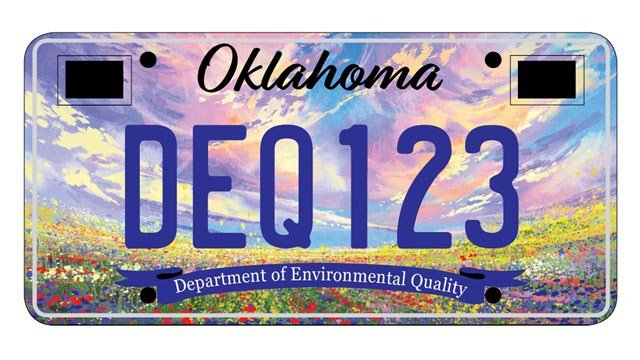 This field of colorful flowers is one of three new license plate designs proposed by the Oklahoma Department of Environmental Quality. (ODEQ)