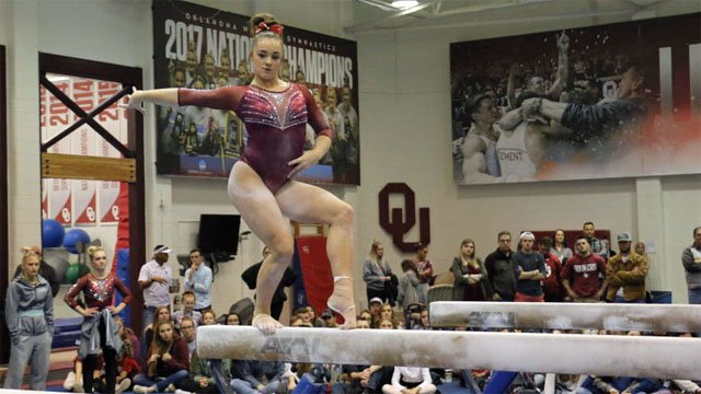 OU gymnast Maggie Nichols said she was sexually abused by a Michigan sports doctor. (OU Athletics Communications)