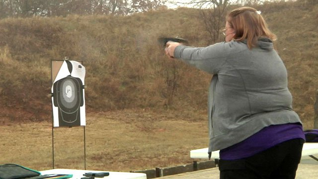 Members of The Well Armed Woman gain confidence with firearms. (KTEN)