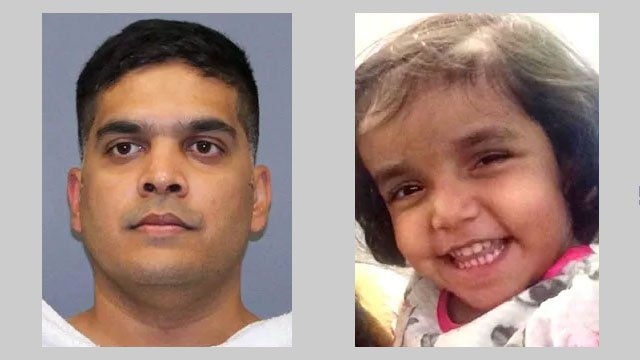 Wesley Mathews, left, has been charged with murdering his three-year-old daughter Sherin. (KTEN)