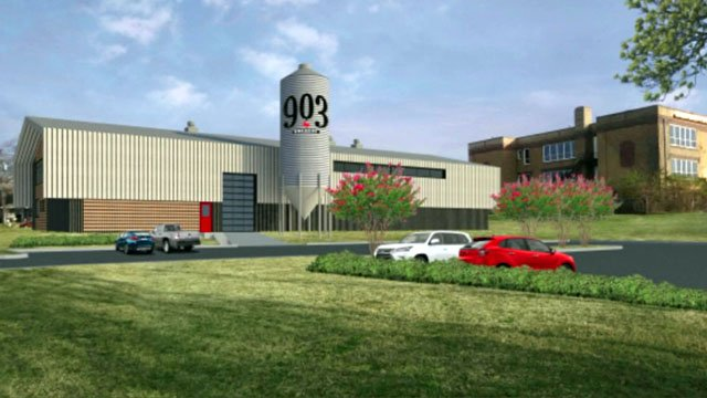 An artist's conception of the 903 Brewers facility at the old Lee School in Sherman. (Courtesy)