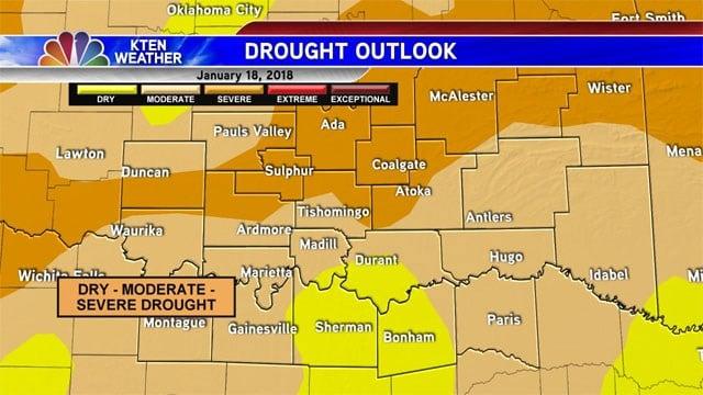 Drought outlook for Texoma. (KTEN)