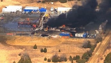 A gas rig explosion in Pittsburg County killed five workers. (KFOR)