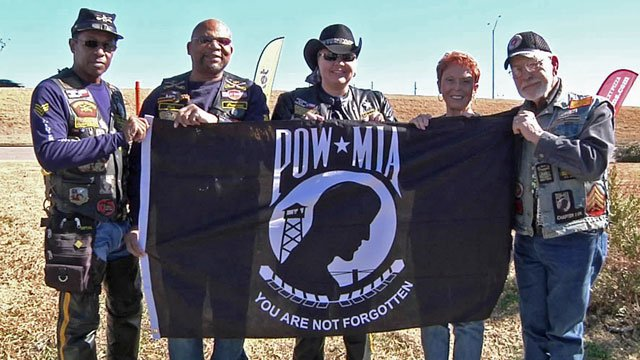 This POW-MIA flag is traveling to all 50 states to raise awareness of 83,000 missing Americans. (KTEN)