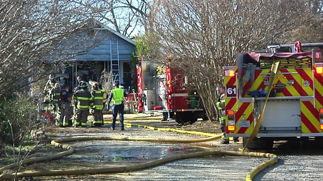 Two Denison residents escaped without injury when their home on South Maurice Avenue burned. (KTEN)