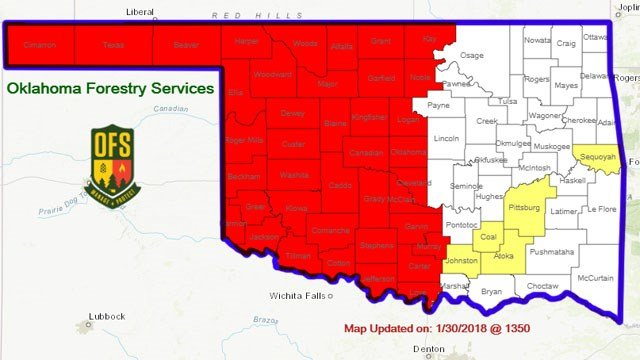 Gov. Mary Fallin issues burn ban for Cleveland County, western Oklahoma