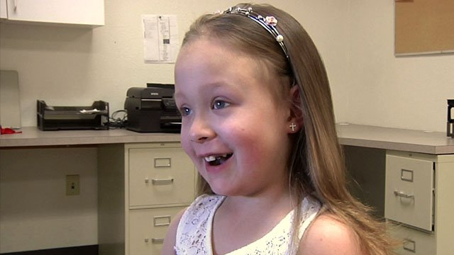 Bella Robertson, 6, is undergoing chemotherapy for an inoperable brain tumor. (KTEN)