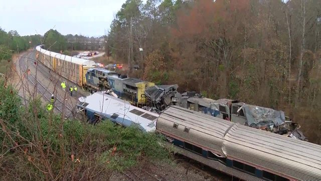 An Amtrak passenger train crashed into a parked freight train in South Carolina. (WIS)