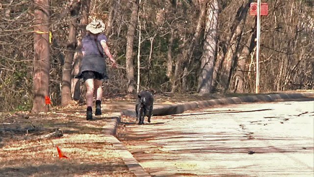 Patrice Parsons said she'd welcome sidewalks that would make it easier to walk her dog. (KTEN)