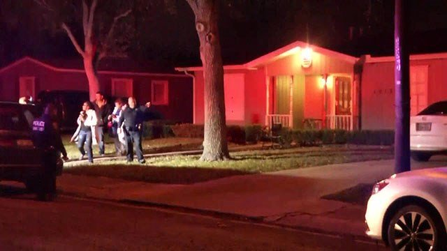 Four people were stabbed during a church service at this home in Corpus Christi, Texas. (KRIS)