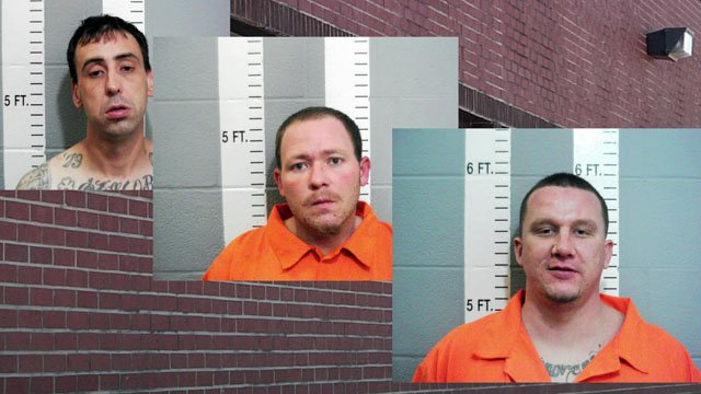 Three men believed involved in a contraband scheme at the Carter County Jail. (KTEN)