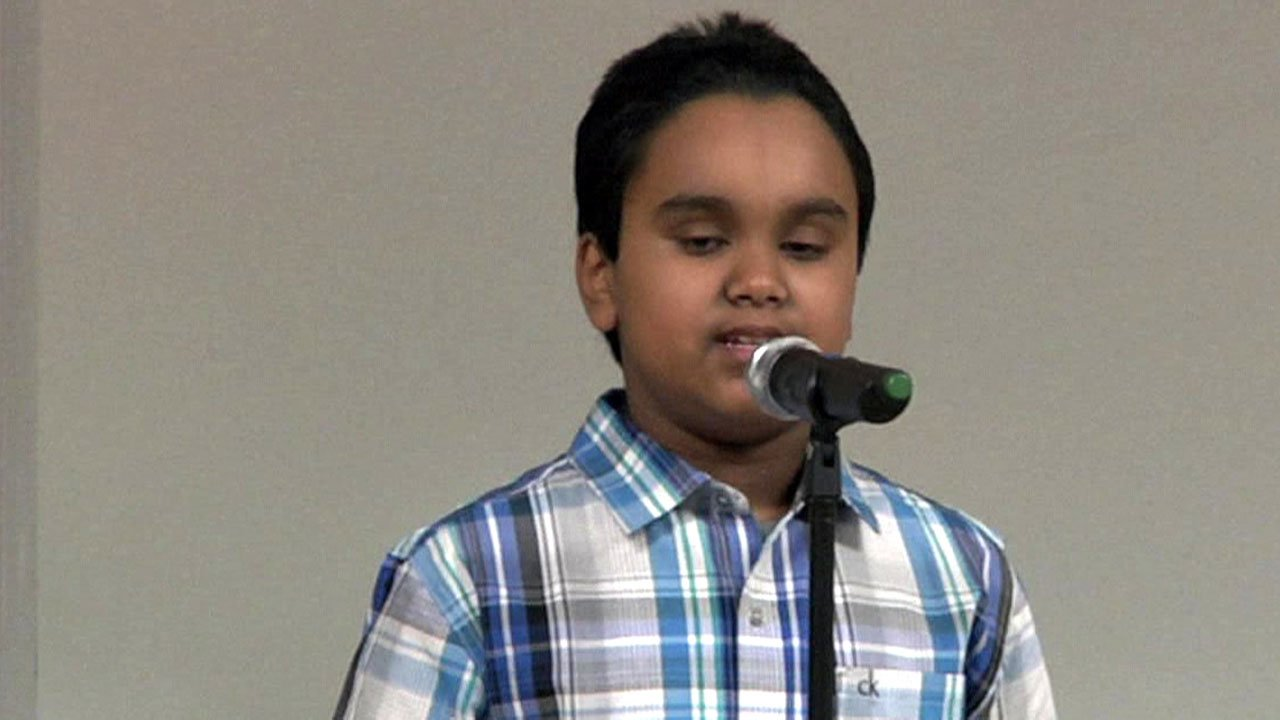 Sherman sixth grader Shomoy Kamal won the Grayson County Spelling Bee for the second consecutive year. (KTEN)