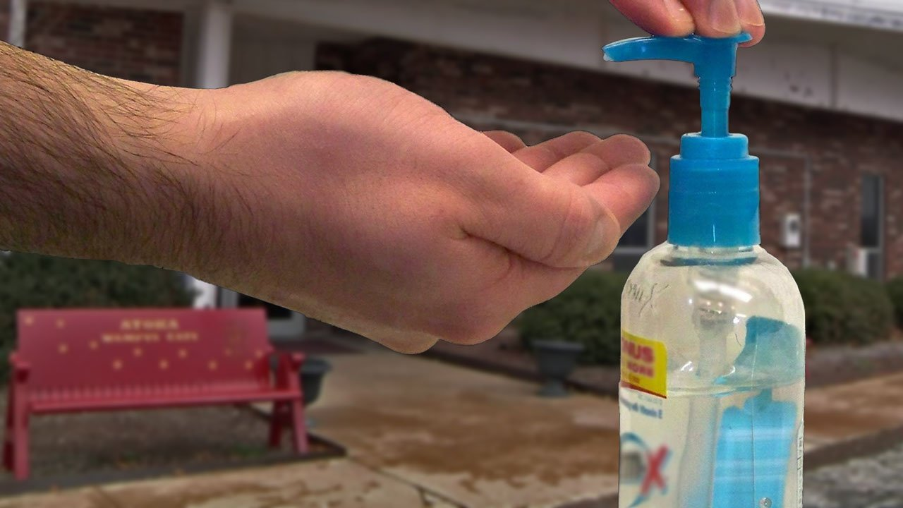 Several students at McCall Junior High School in Atoka were suspended for using hand sanitizer in class. (KTEN)