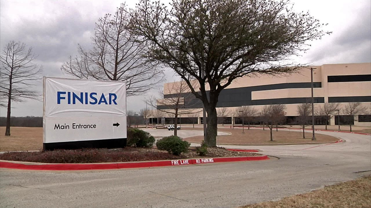 Finisar said it plans to hire 600 people to work at its new Sherman facility. (KTEN)