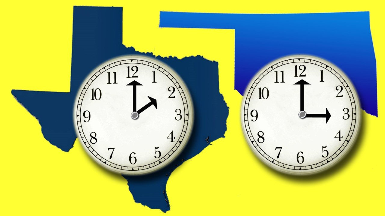 Oklahoma and Texas could soon be in two different time zones if a bill introduced in the Oklahoma Senate is passed. (KTEN)
