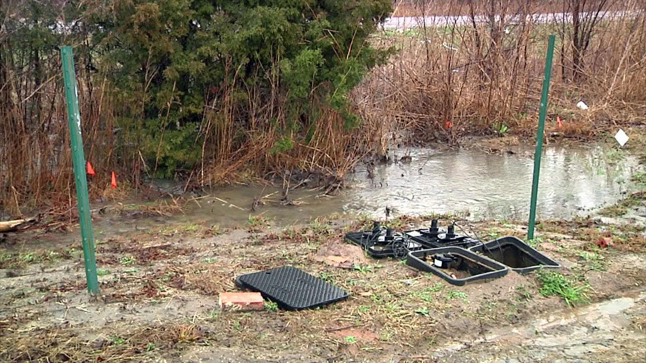 Heavy rain is blamed for a sewage spill in Van Alstyne. (KTEN)