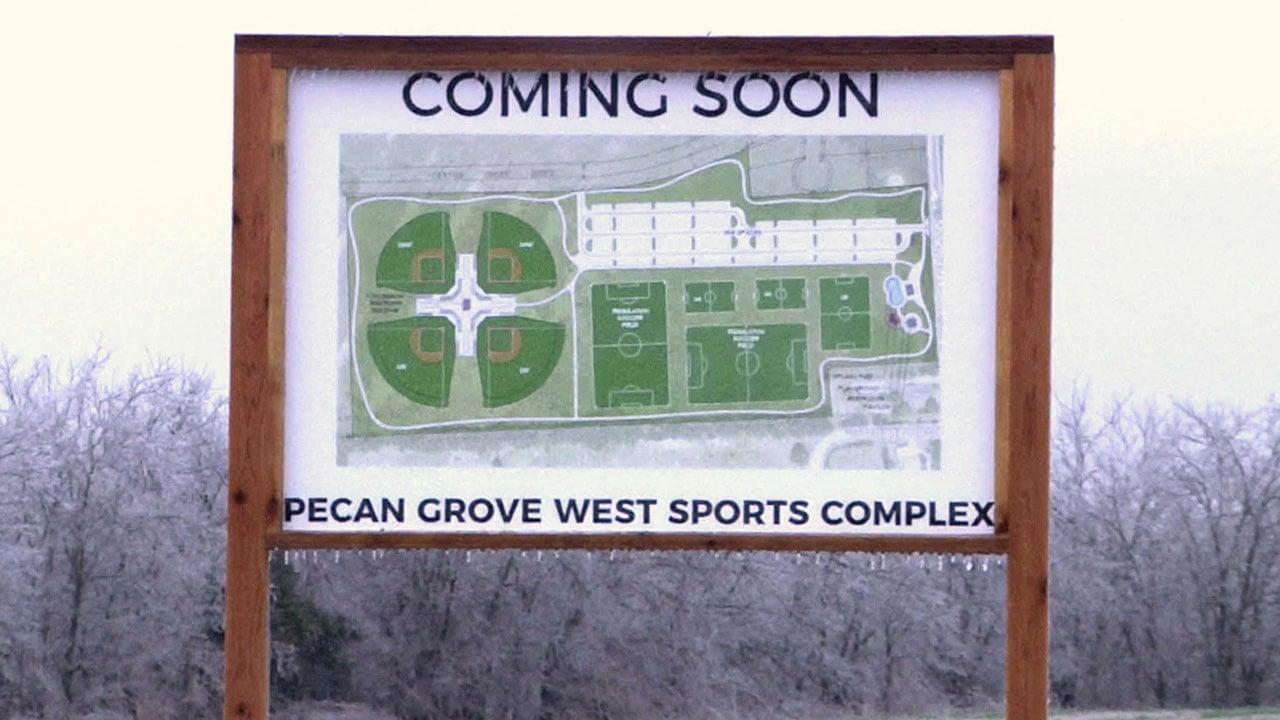 The Pecan Grove West Sports Complex will open in 2019. (KTEN)