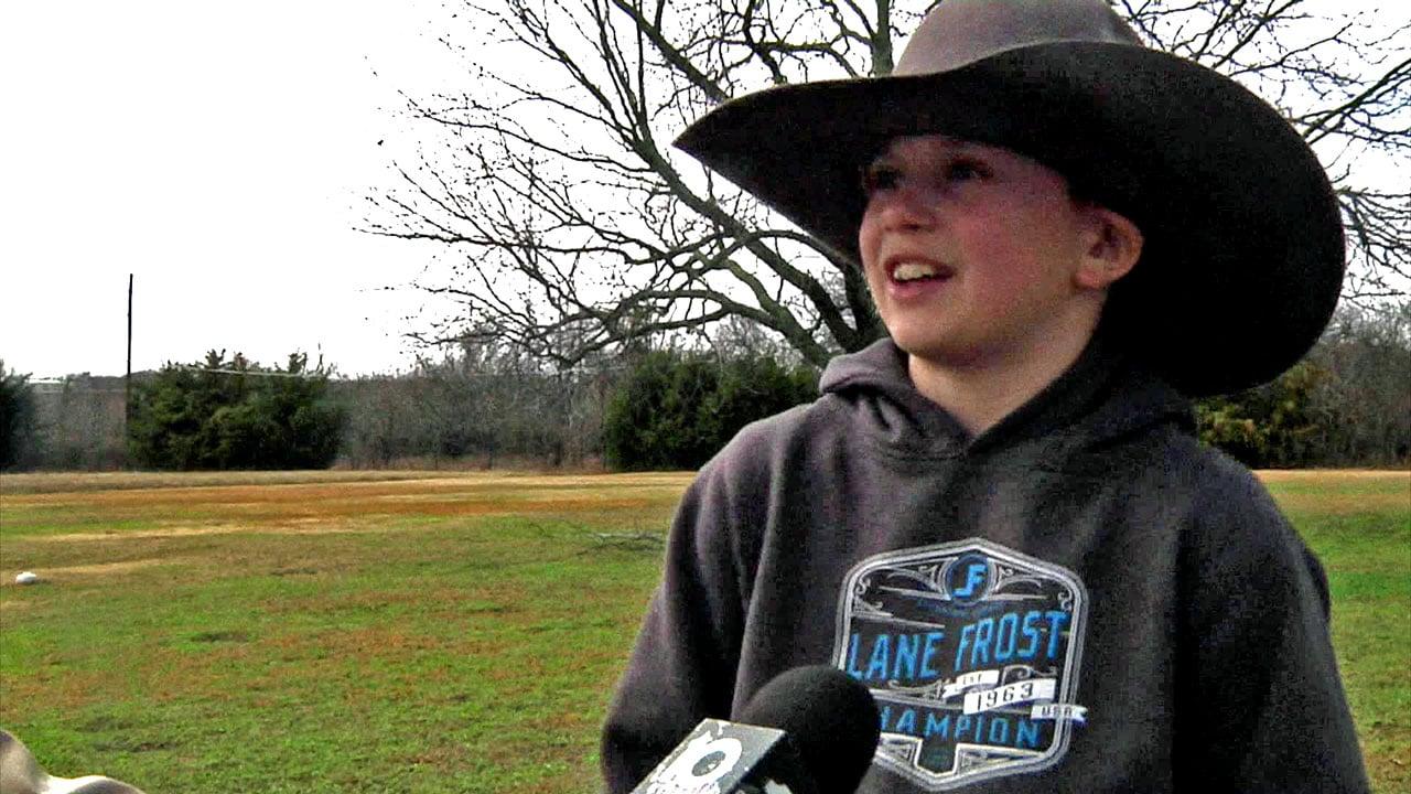 Tucker Willis, 10, is already a champion bull rider. (KTEN)