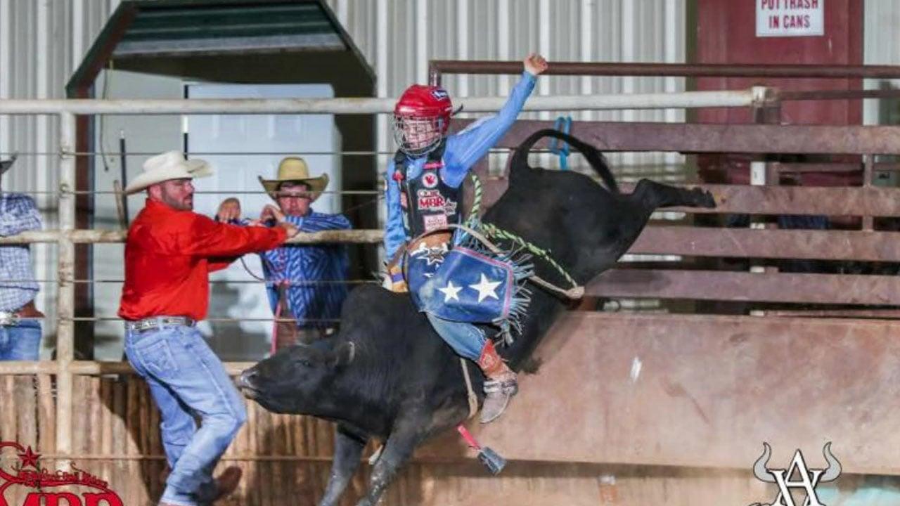 Tucker Willis, 10, is already a champion bull rider. (Courtesy)