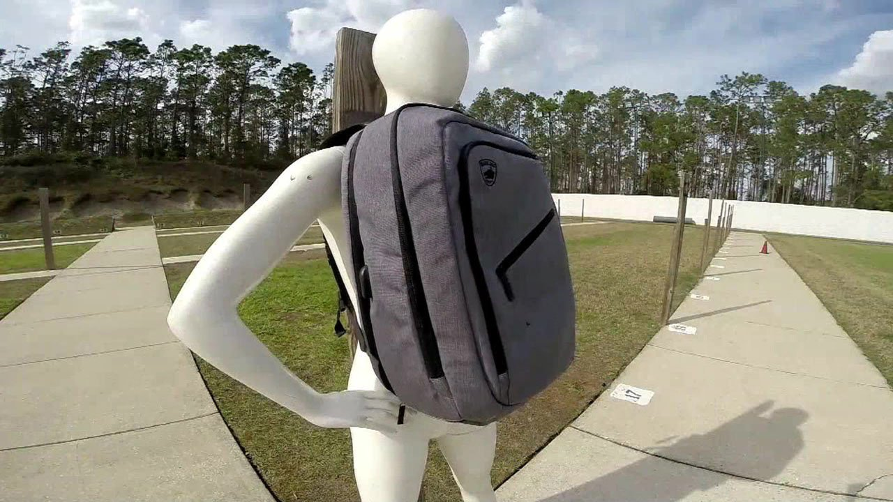 "Guard Dog Security offers ""bulletproof"" backpacks. (WESH via NBC News)"