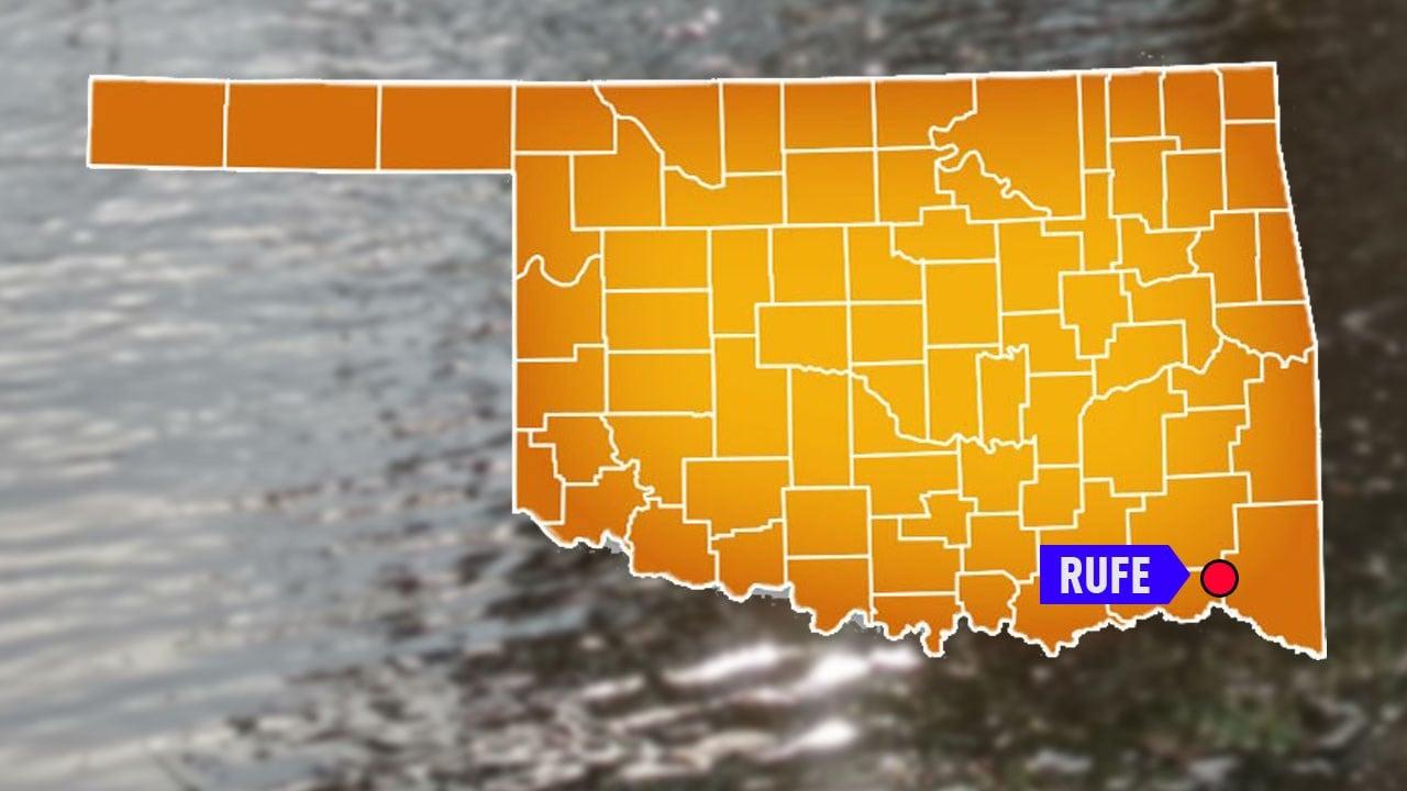 Flooding in Rufe, Oklahoma. (KTEN)