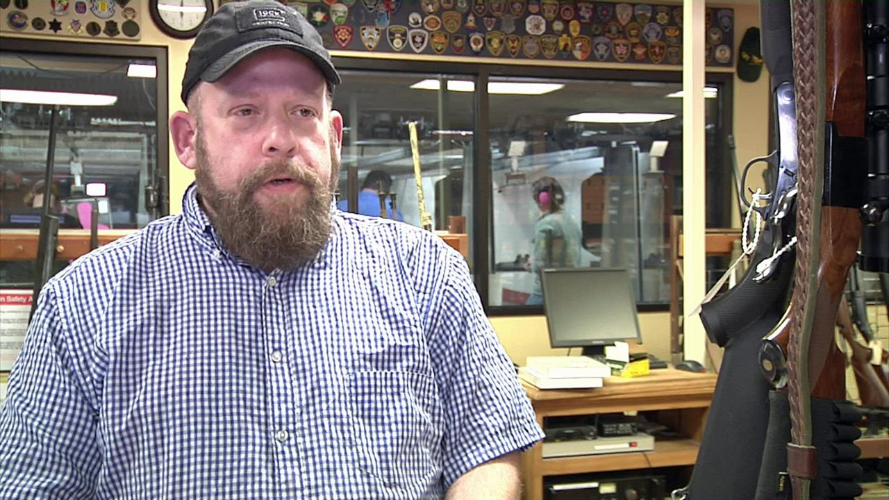 Sherman gun store owner Jason Webb disagrees with any added restrictions on weapon sales. (KTEN)