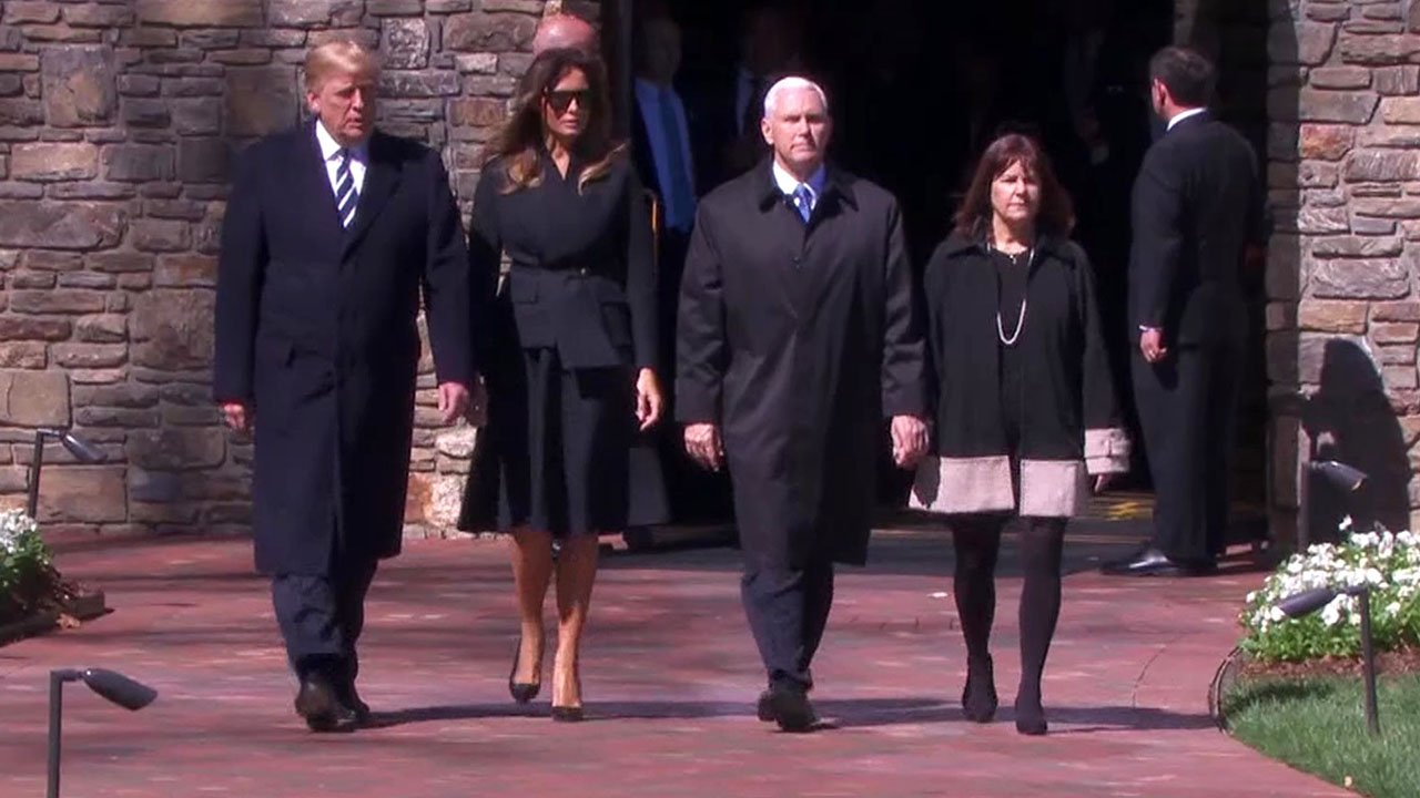 President Trump, Vice President Pence and their wives attended Billy Graham's funeral service. (NBC News)