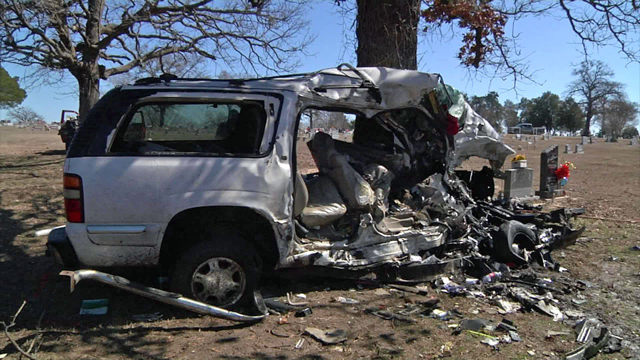 It took emergency responders nearly 30 minutes to get Angela Taylor out of her SUV after a crash near Milburn. (KTEN)