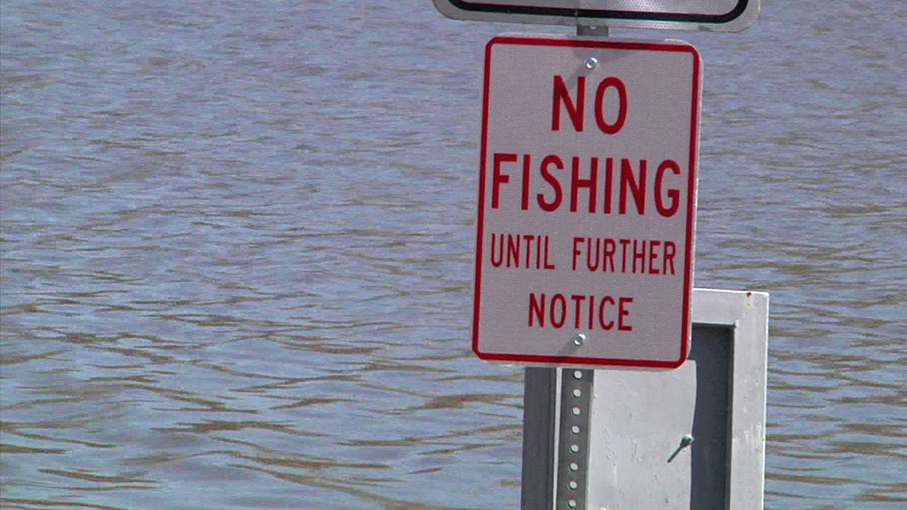 Fishing is banned at Wintersmith Lake in Ada. (KTEN)