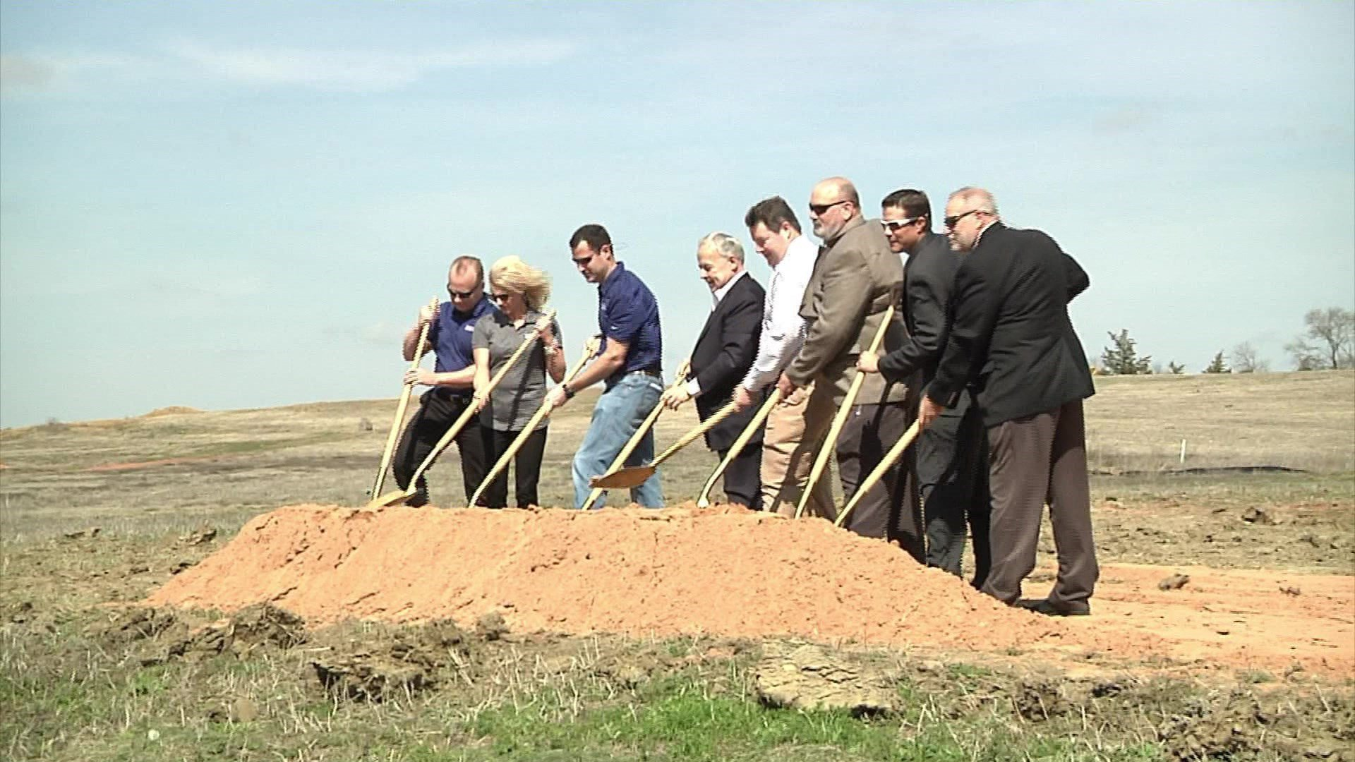 HeyDay will build an entertainment complex at this site in Denison. (KTEN)