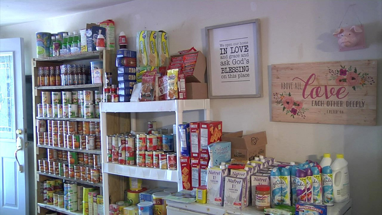 A fully-stocked food pantry is offered by Hope for Marshall County. (KTEN)