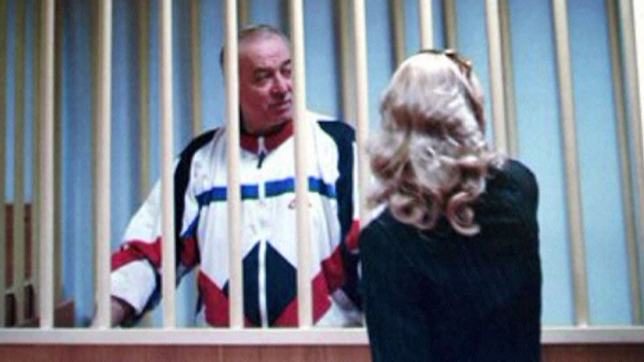 A 2006 photo of Sergei Skripal in a Moscow courtroom. (APTN via NBC News)