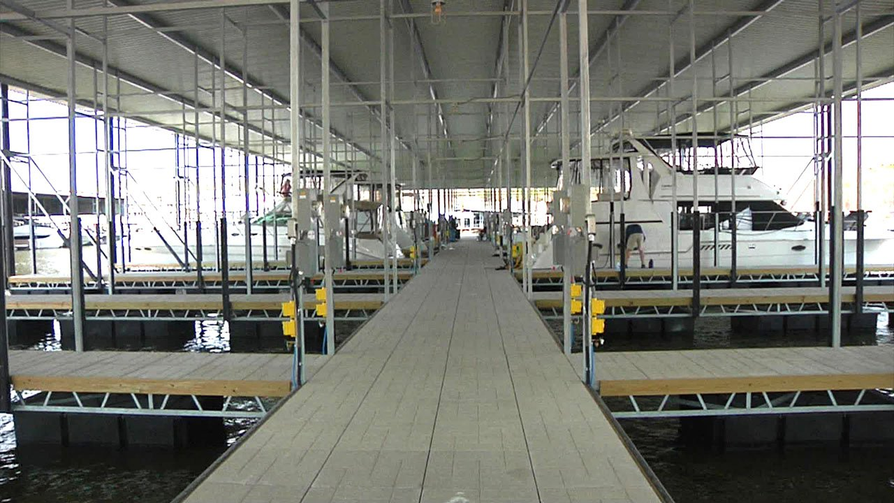 U Dock is back in business at Highport Marina on Lake Texoma. (KTEN)