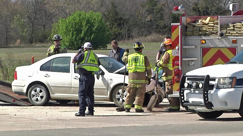 Four people were injured when two cars collided across from the Choctaw Casino Resort in Durant. (KTEN)