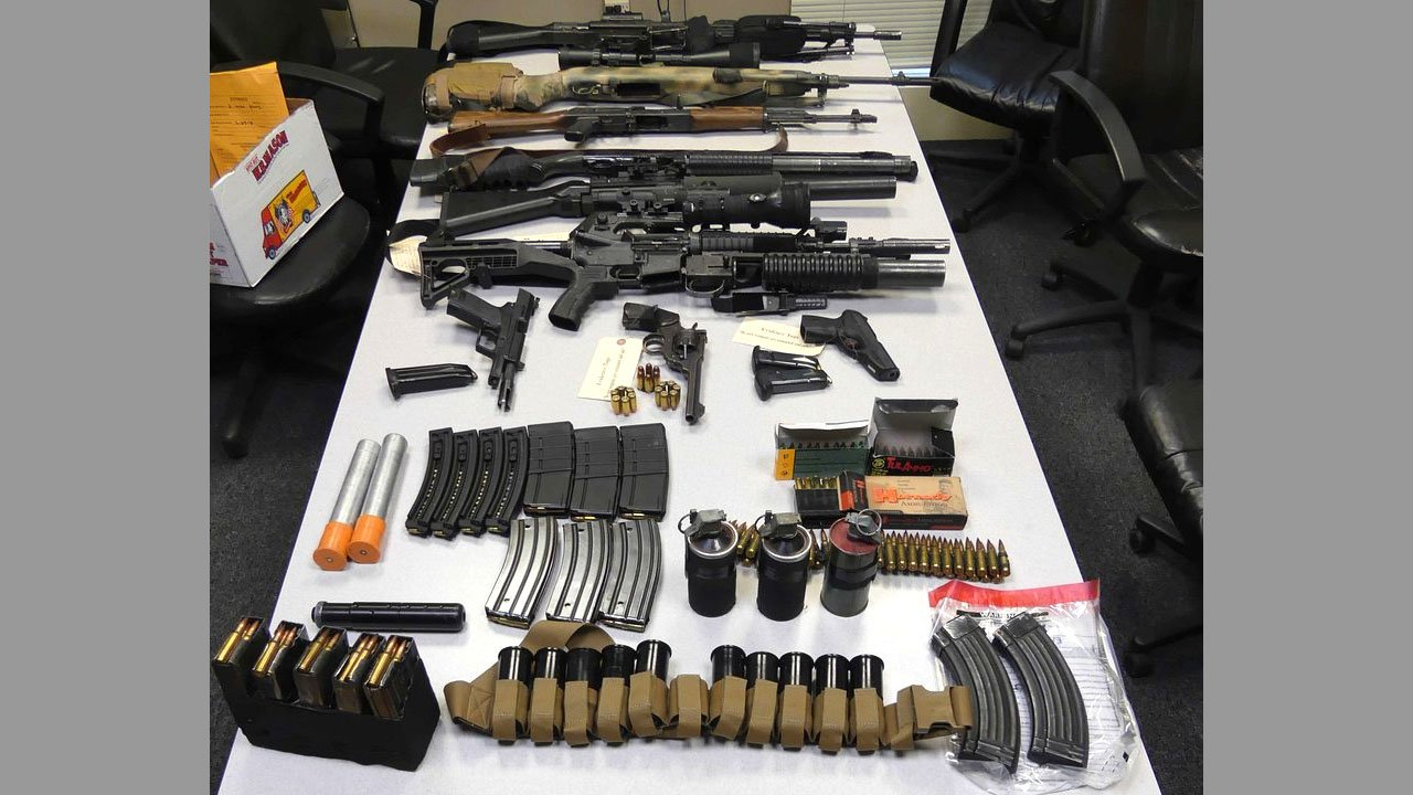 Frisco couple arrested in MA on weapons charges