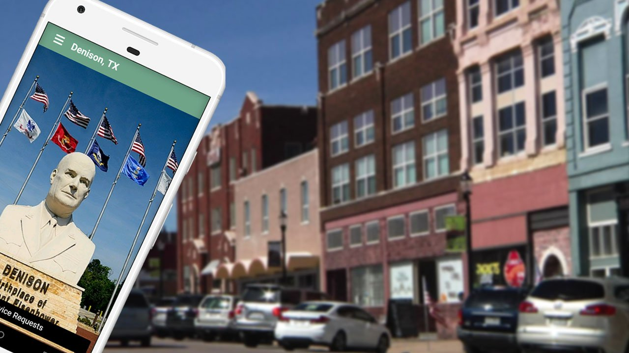 Denison's app aims to make it easier to communicate with local government. (KTEN)