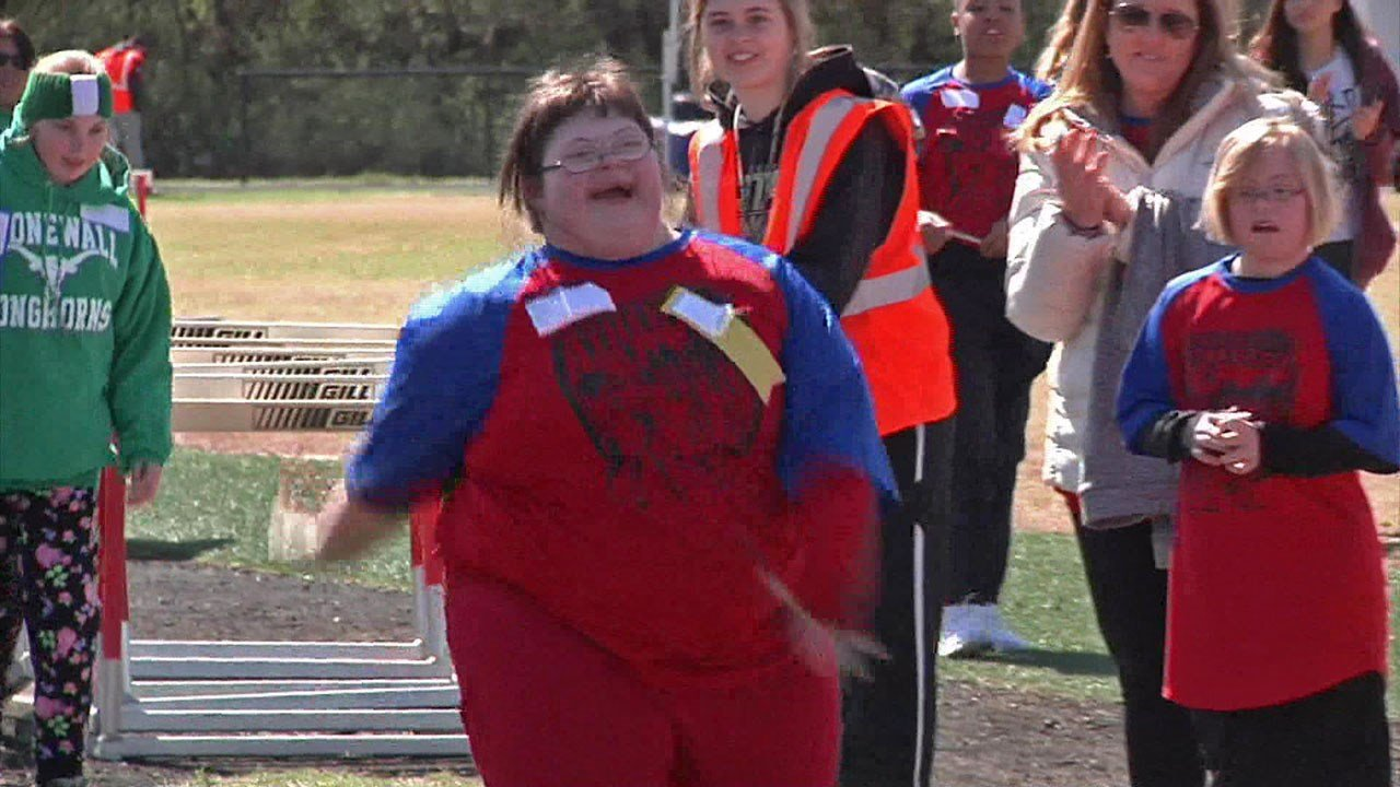Scene from the Special Olympics regional event in Pauls Valley. (KTEN)