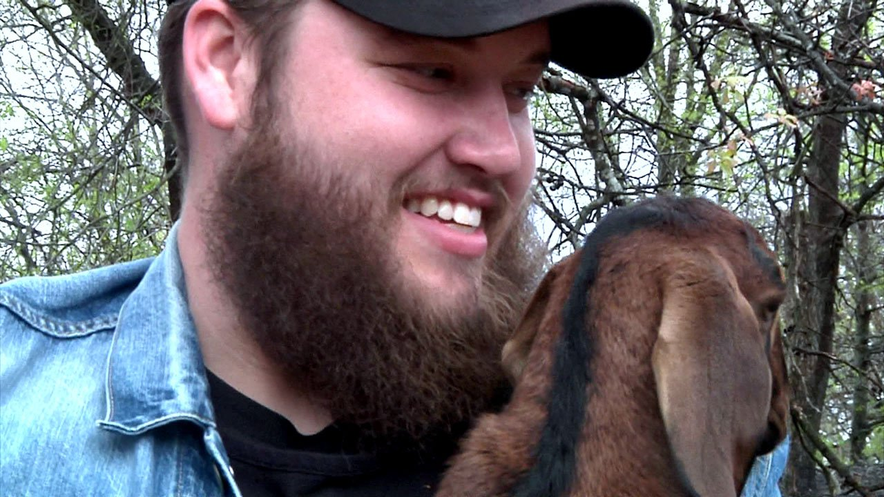 Texoma goat farmer Trevor McBane had no formal musical training. (KTEN)