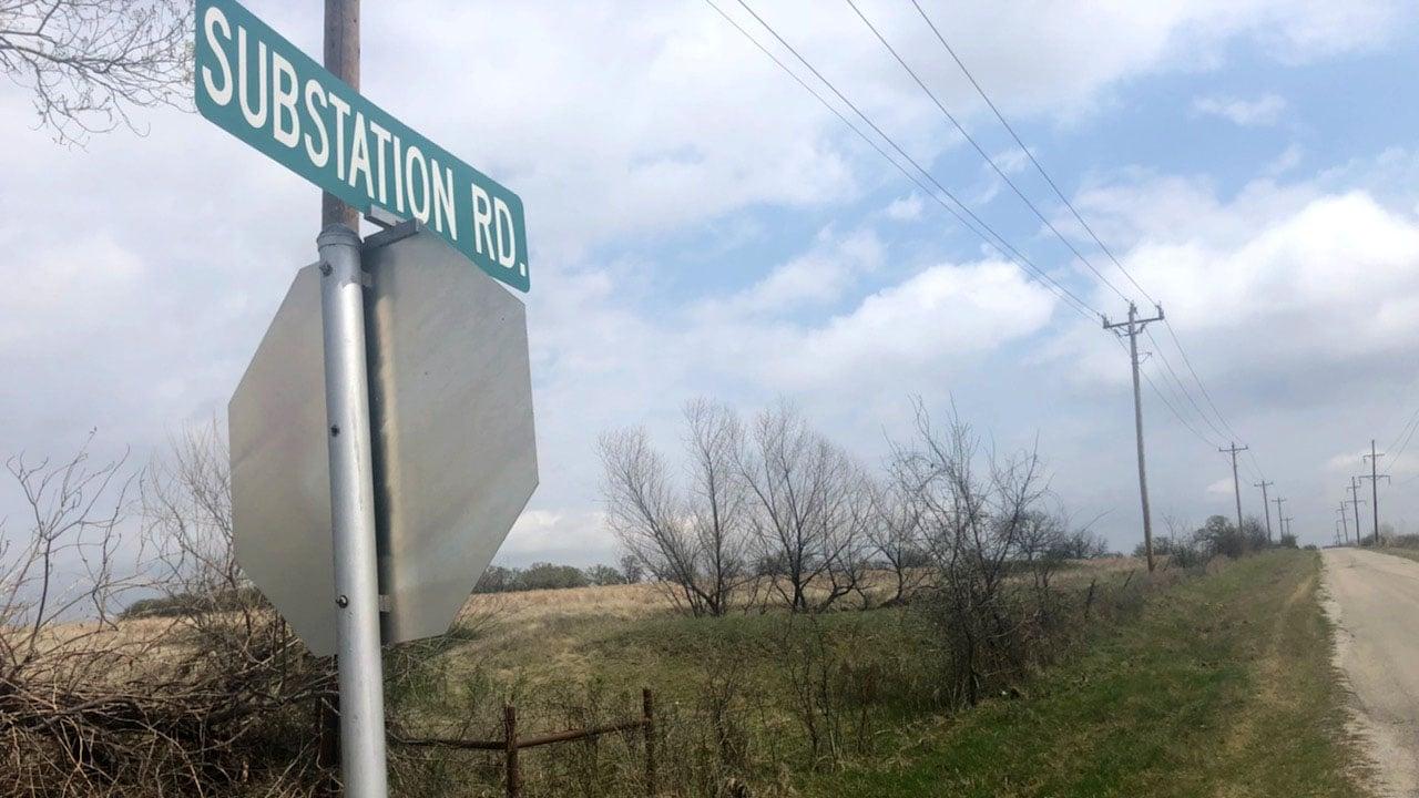 Two teens were shot along Substation Road north of Davis. (KTEN)