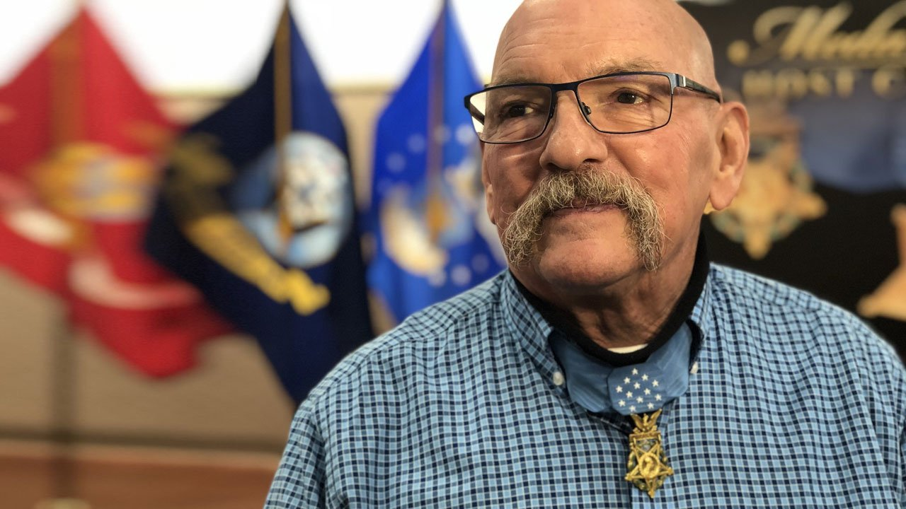 U.S. Army Sgt. Gary Beikirch (ret.) was Grand Marshal at Gainesville's annual Medal of Honor parade. (KTEN)