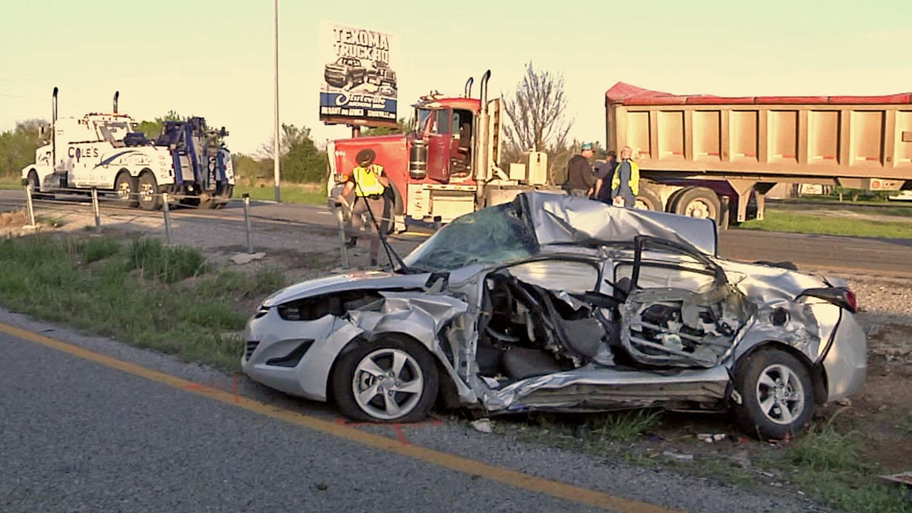 A Calera man and his daughter were killed when their car was broadsided by an 18-wheeler on Highway 69/75. (KTEN)