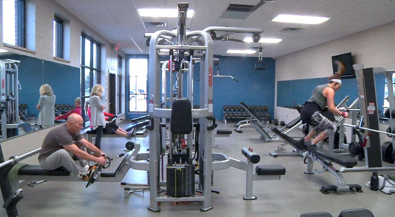 Exercise equipment at the renovated Ardmore Family YMCA. (KTEN)